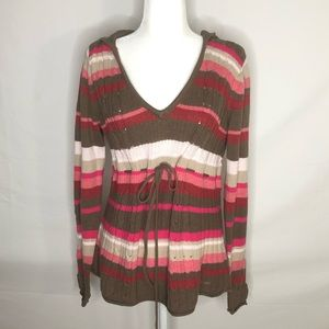 DKNY Jeans, hooded sweater, punk & taupe, size XL